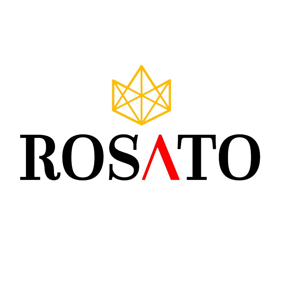 Logo Rosato con corona PNG